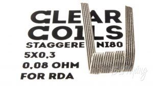 ClearCoils Staggeres NiCr 5x0.3x0.1