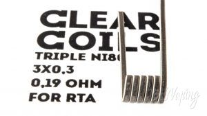 ClearCoils Trople NiCr 3x0.3x0.1